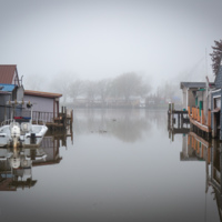 Boathouses, Boathouse Park, photo (Dennis Reed Jr, 2021-05-03).jpg