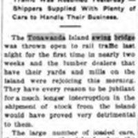 Swing Bridge Opened Again, New Abutment Built, article (Tonawanda News, 1912-12-04).jpg