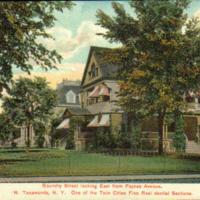 de Kleist home on Goundry Street Looking East from Payne Ave, postcard (1907).jpg