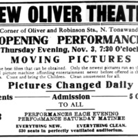 New Oliver Theater, ad (Tonawanda News, 1910-11-03).jpg