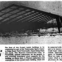 Tennis complex being erected, photo (Tonawanda News, 1974-04-11).jpg