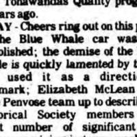 Blue Whale Car Wash was demolished in May (Tonawanda Evening News, 1985-12-28).jpg