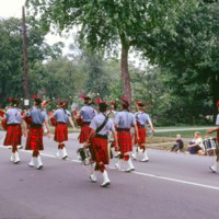 Cazenovia Pipe Band, Scottish bagpipes and drums, Sweeney Cemetery, parade, photo (1972).jpg