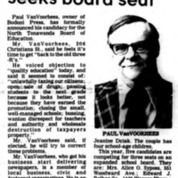 Paul VanVoorhees seeks board seat, article (Tonawanda News, 1978-04-20).png
