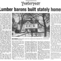 Lumber barons built stately homes, 208, 309 Goundry, article, Neal (Tonawanda News 2007-07-23).jpg