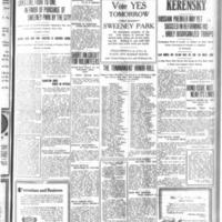 Sweeney Park vote tomorrow, no sectionalism, articles (Tonawanda Evening News, 1917-07-25).jpg