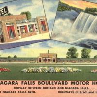 Niagara Falls Blvd Motor Hotel, illustrated postcard.JPG