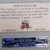 Victor Safe Co., safe certification tag, logo.jpg