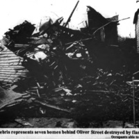 Debris of seven destroyed homes, Auto-Wheel fire, photo (Tonawanda News, 1972-05-31).jpg