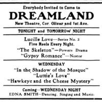 Dreamland, ad (Tonawanda News, 1914-06-30).jpg