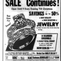 Leon Jewlers, ad, logotype (Tonawanda News, 1952-12-08).png