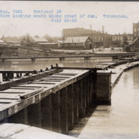 Looking south along the crest of the dam in Tonawanda, photo (NYSA, 1910-07-19).jpg